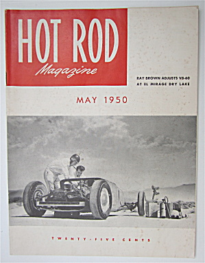 Hot Rod Magazine May 1950 Ray Brown Adjusts V8-60