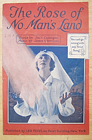 1918 The Rose Of No Man's Land Sheet Music