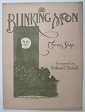 Sheet Music 1908 Blinking Moon Three Step