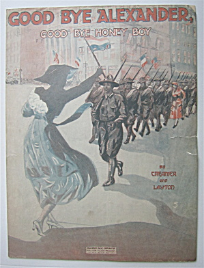 Sheet Music 1918 Good Bye Alexander