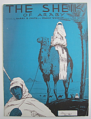 Sheet Music 1921 The Sheik Of Araby