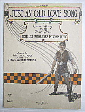 Sheet Music 1922 Just An Old Love Song