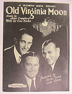 Sheet Music 1924 Old Virginia Moon
