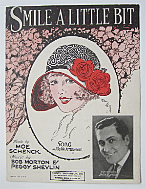 Sheet Music 1925 Smile A Little Bit