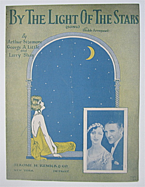 Sheet Music 1925 By The Light Of The Stars