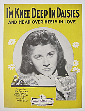 Sheet Music 1925 I'm Knee Deep In Daisies