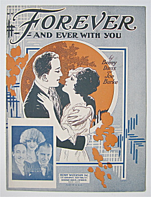 Sheet Music 1925 Forever And Ever With You  (Image1)