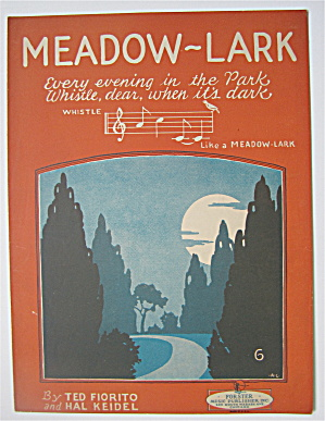 Sheet Music 1926 Meadow-lark