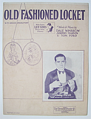 Sheet Music 1927 Old Fashioned Locket