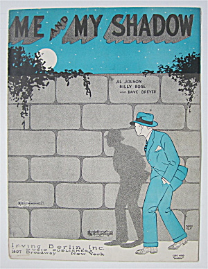 Sheet Music 1927 Me And My Shadow