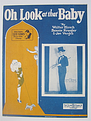 Sheet Music 1927 Oh Look At That Baby