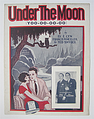 Sheet Music For 1927 Under The Moon