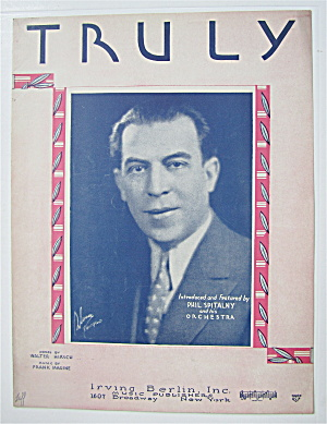 Sheet Music 1930 Truly (Phil Spitalny Cover)