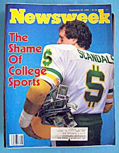 Newsweek Magazine - September 22, 1980 - College Sports (Image1)