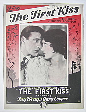 Sheet Music 1928 The First Kiss Fay Wray & Gary Cooper (Image1)