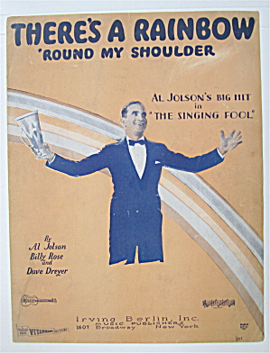 Sheet Music 1928 There's A Rainbow 'Round My Shoulder (Image1)