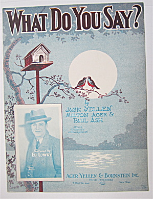 Sheet Music 1928 What Do You Say?