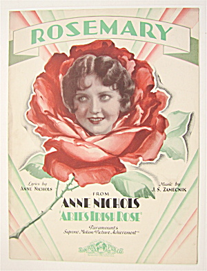 Sheet Music 1928 Rosemary (From Abie's Irish Rose)