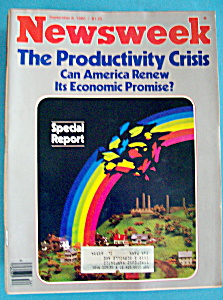 Newsweek Magazine - September 8, 1980 - Productivity