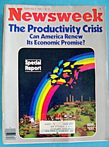 Newsweek Magazine - September  8,  1980 - Productivity (Image1)
