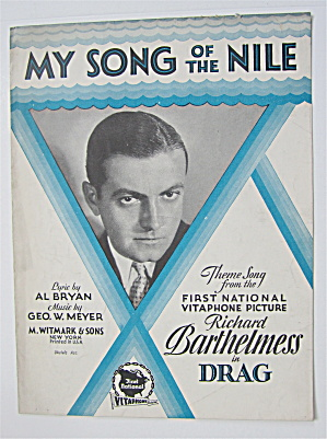 Sheet Music 1929 My Song Of The Nile