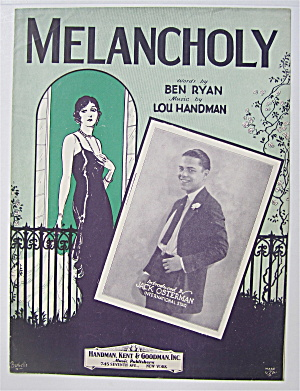 Sheet Music 1929 Melancholy