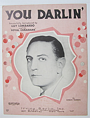 Sheet Music 1930 You Darlin'