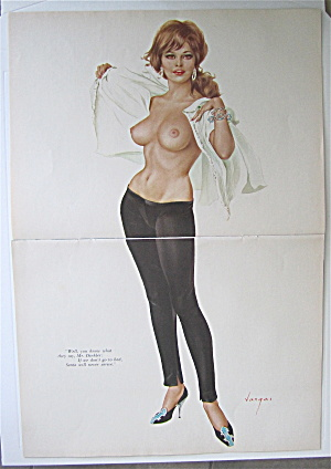 Alberto Vargas Pin Up Girl December 1964 Mr. Dinkler