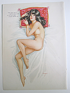 Alberto Vargas Pin Up Girl March 1966 Become A Star