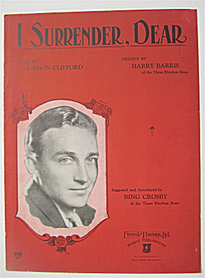 Sheet Music 1931 I Surrender, Dear