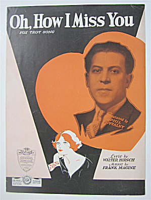 Sheet Music 1931 Oh, How I Miss You