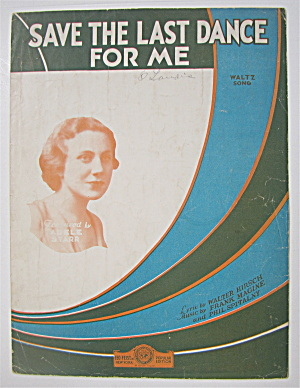 Sheet Music 1931 Save The Last Dance For Me