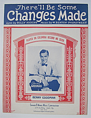 Sheet Music 1932 There'll Be Some Changes Made (Image1)