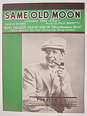 Sheet Music 1932 Same Old Moon (Same Old Sky)