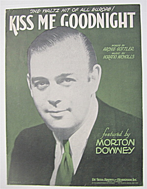 Sheet Music 1932 Kiss Me Goodnight