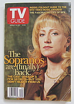 Tv Guide August 24-30, 2002 Sopranos Are Back