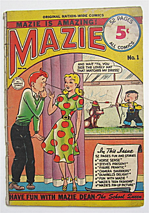 Mazie Comic Book No. 1 1953 Horse Sense