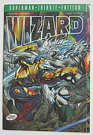 Wizard Superman Comic 1992 Tribute First Edition