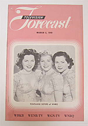 Television Forecast March 5, 1949 Fontanne Sisters