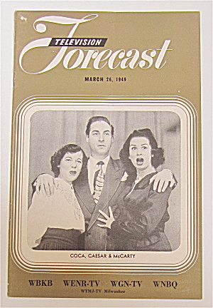 Television Forecast March 26, 1949 Coca, Caesar/mccarty