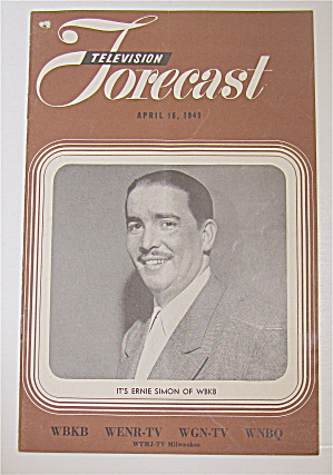Television Forecast April 16, 1949 Ernie Simon Of Wbkb