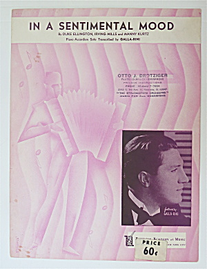 Sheet Music For 1935 In A Sentimental Mood