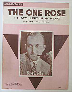 Sheet Music 1936 The One Rose (That's Left In My Heart)
