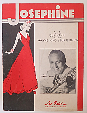 Sheet Music For 1937 Josephine