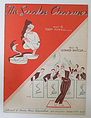 Sheet Music For 1937 The Snake Charmer
