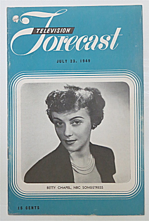 Television Forecast July 23, 1949 Betty Chapel