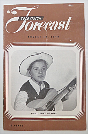 Television Forecast August 13, 1949 Tommy Sands  (Image1)