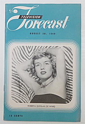 Television Forecast August 20, 1949 Roberta Quinlan  (Image1)