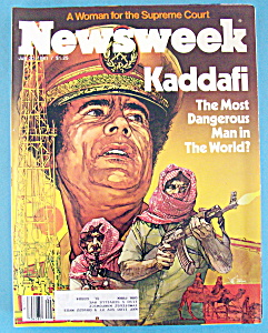 Newsweek Magazine - July 20, 1981 - Kaddafi