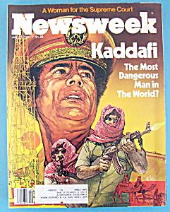 Newsweek Magazine - July 20, 1981 - Kaddafi (Image1)